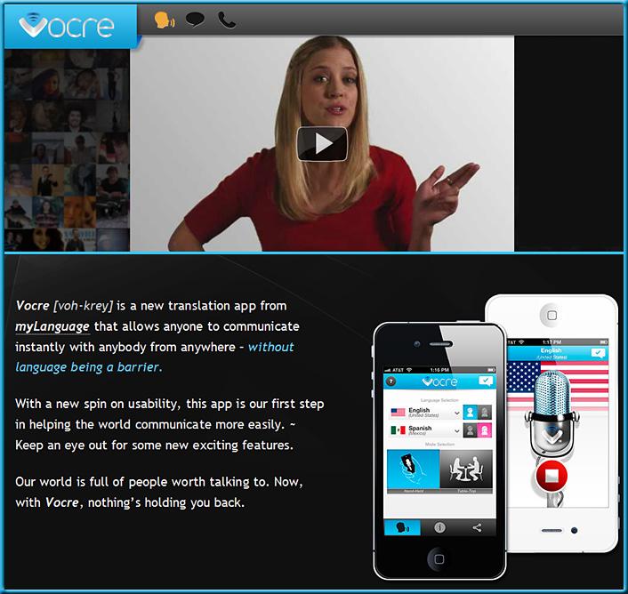 Vocre -- translation app