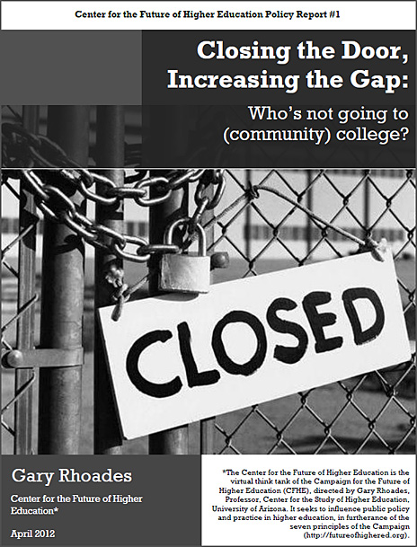 Closing the door, opening the gap -- by Gary Rhoades - April 2012