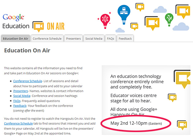 Google Education On Air - May 2012