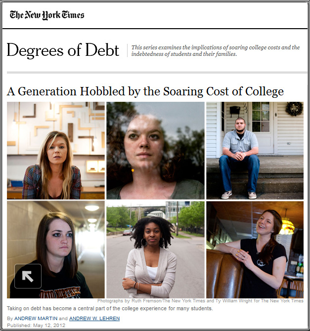 A generation hobbled by the soaring cost of college
