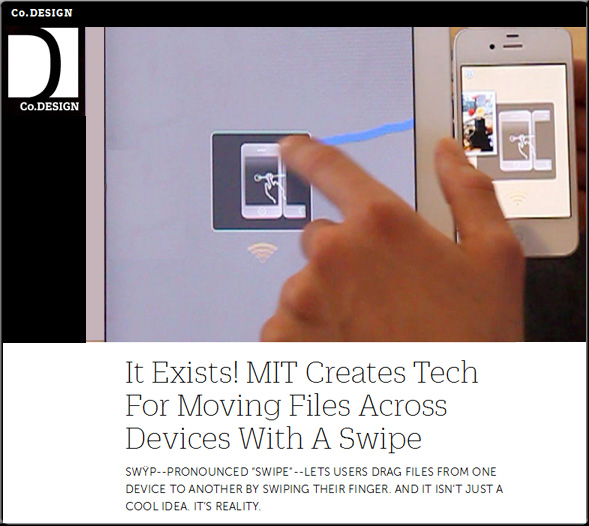 MIT invents tech for moving files across devices with a swipe