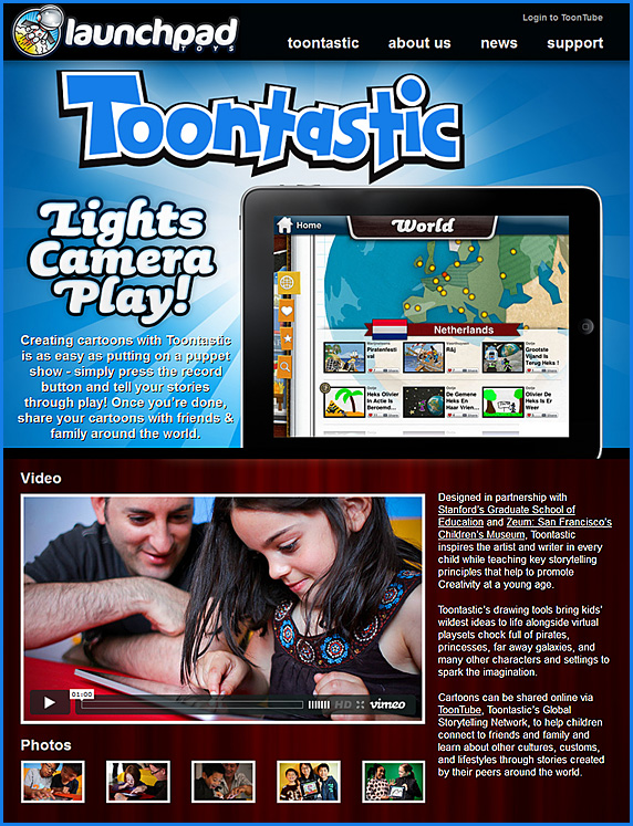 toontastic -- bring out the creativity in young ones!