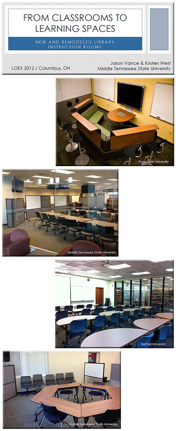 From classrooms to learning spaces [Vance & West; 2012]