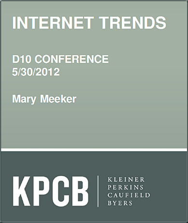 Internet Trends -- Mary Meeker's 5-30-12 presentation at D10 Conference