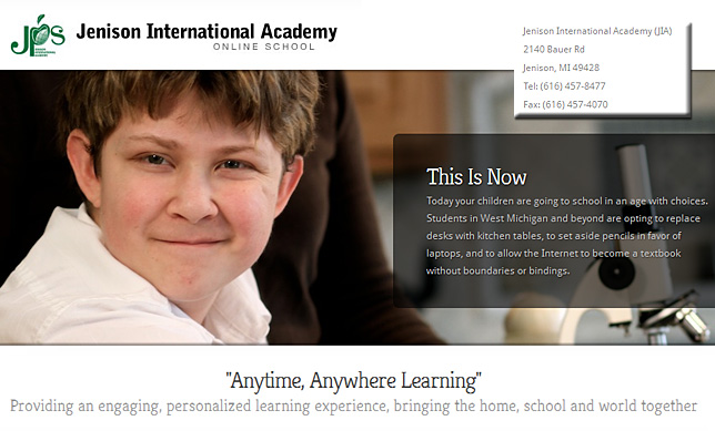 Jenison International Academy (JIA) is an online school providing middle & high school students with a web-based curriculum throughout West Michigan, and around the world. All courses have a state certified, highly qualified teacher instructing and issuing credit.