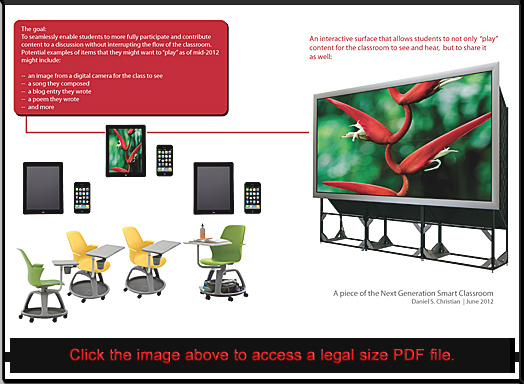 A piece of the Next Generation Smart Classroom -- Daniel Christian -- June 2012
