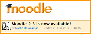 Moodle Version 2.3 is now available
