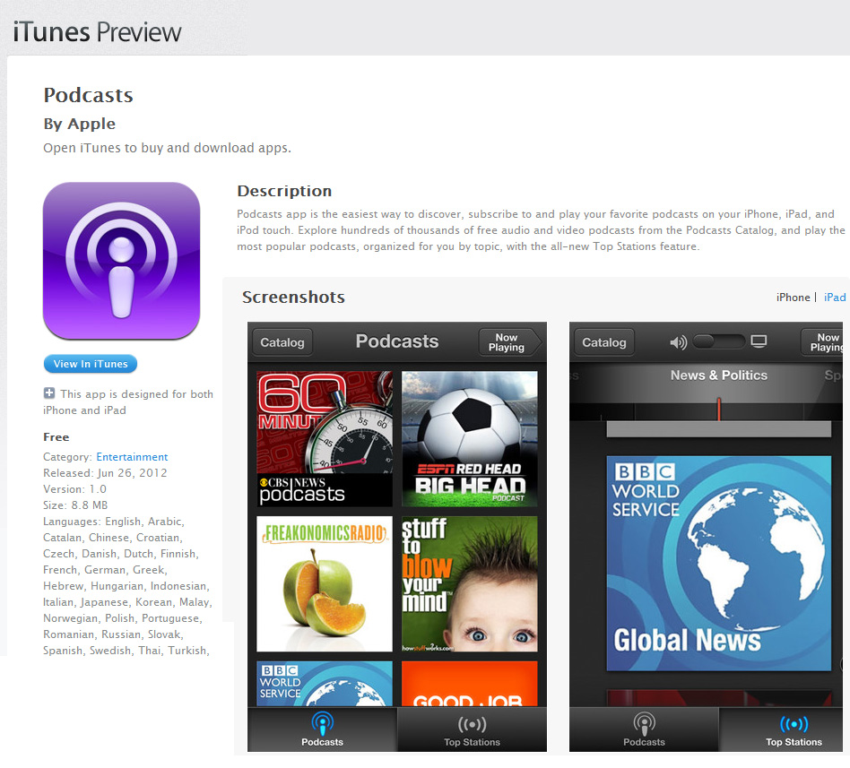 Apple expands its app offerings with Podcasts
