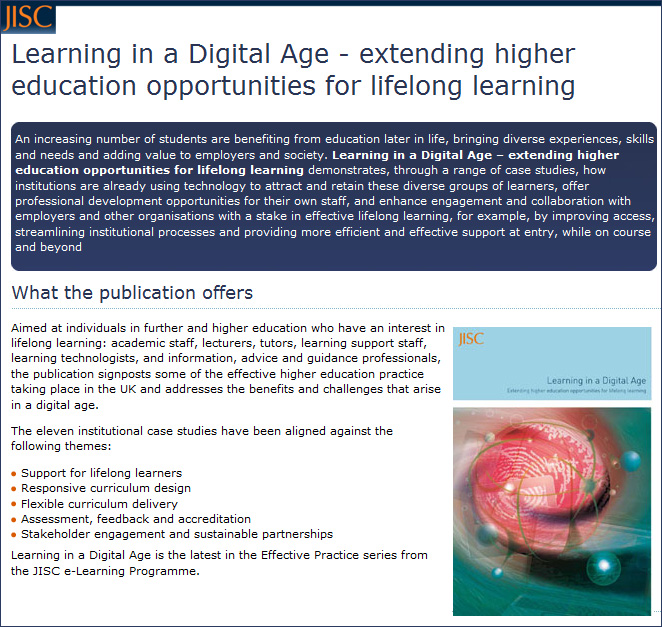 Learning in a Digital Age - JISC - 2012