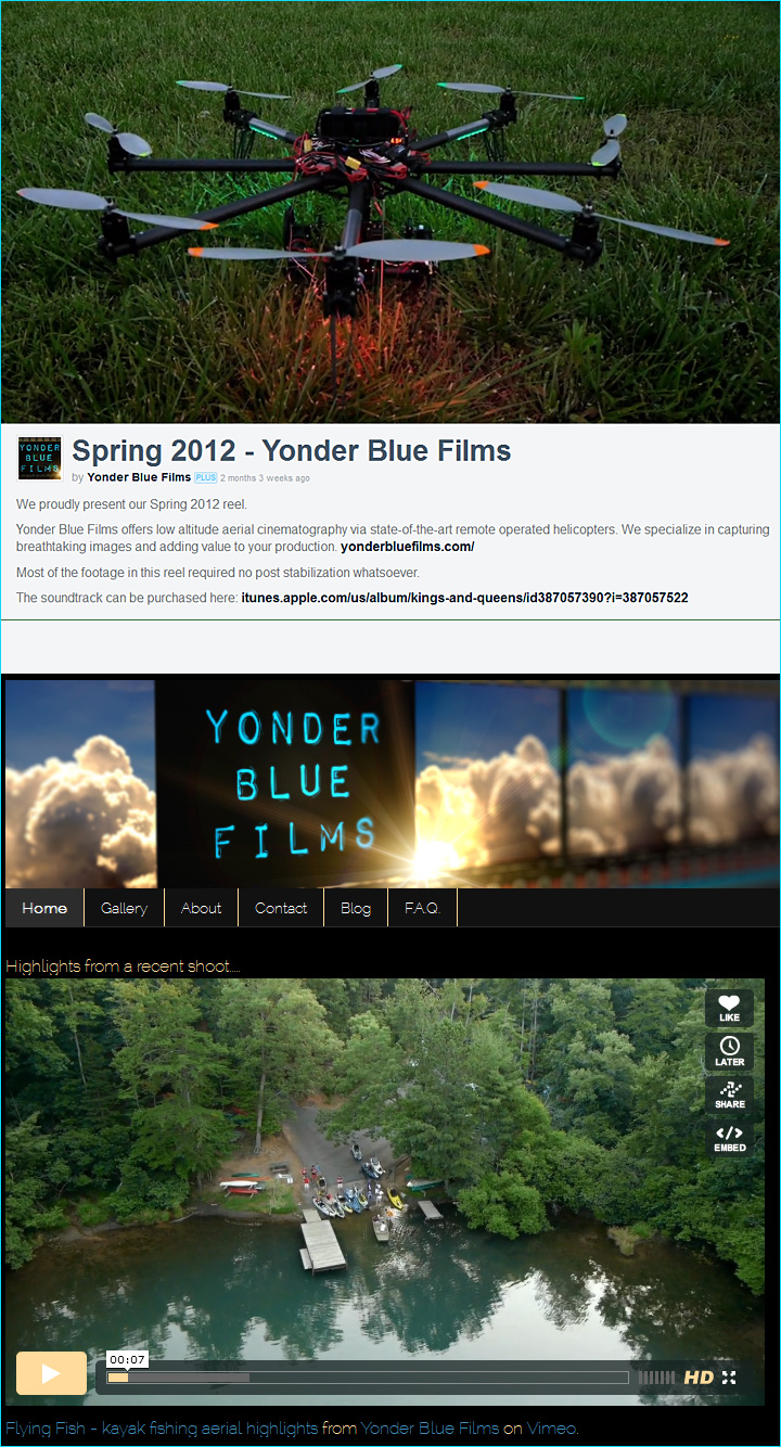 Yonder Blue Films: Full-service production company specializing in aerial cinematography