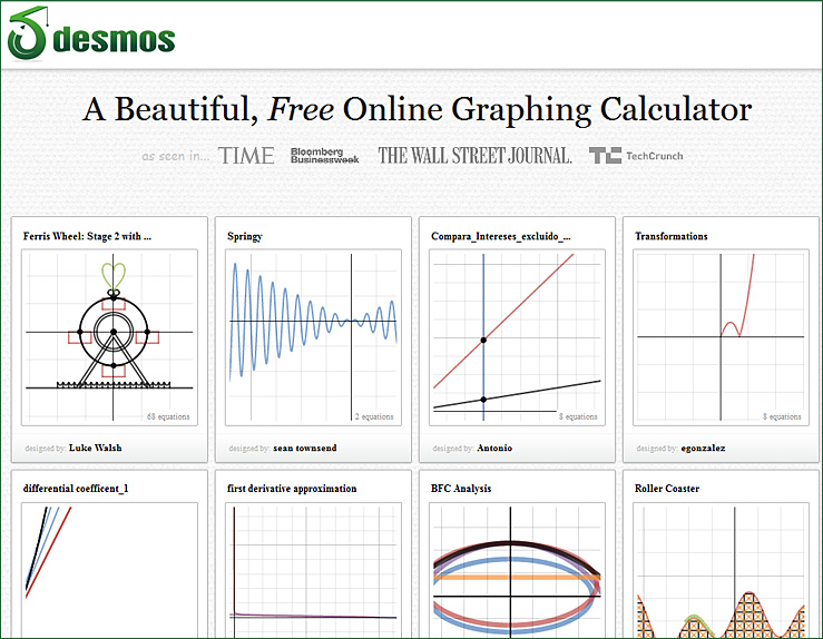 desmos -- a free online calculator
