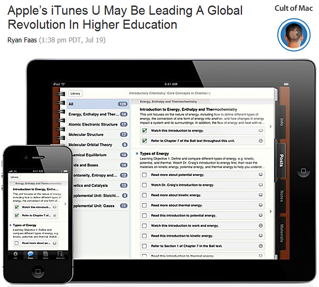 Apple's iTunes U may be leading a global revolution in higher education