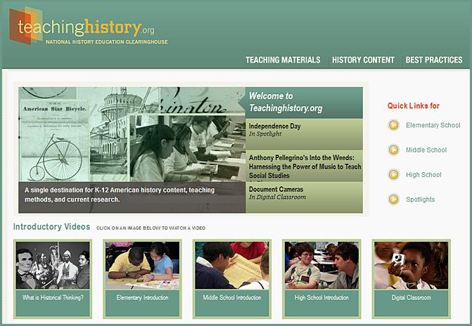 teaching history dot org