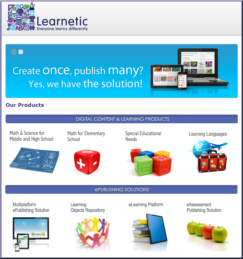 learnetic.com-  Learnetic S.A. is a world-leading educational software publisher and e-learning technology provider,
