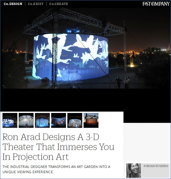 Ron Arad designs a 3D theater that immerses you in projection art