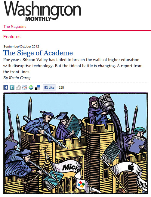 The Washington Monthly - The Magazine - The Siege of Academe [Kevin Carey]