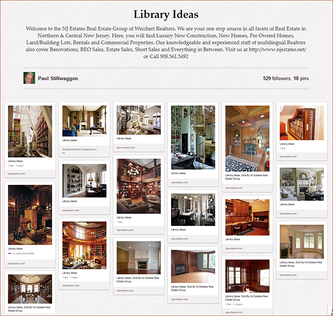 http://pinterest.com/njestates/library-ideas/