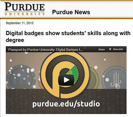 Purdue's Digital Badges - 9-11-12