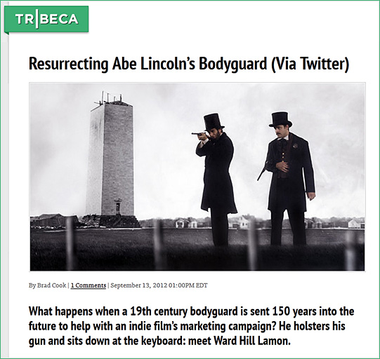 Resurrecting Abe Lincoln's bodyguard - via Twitter