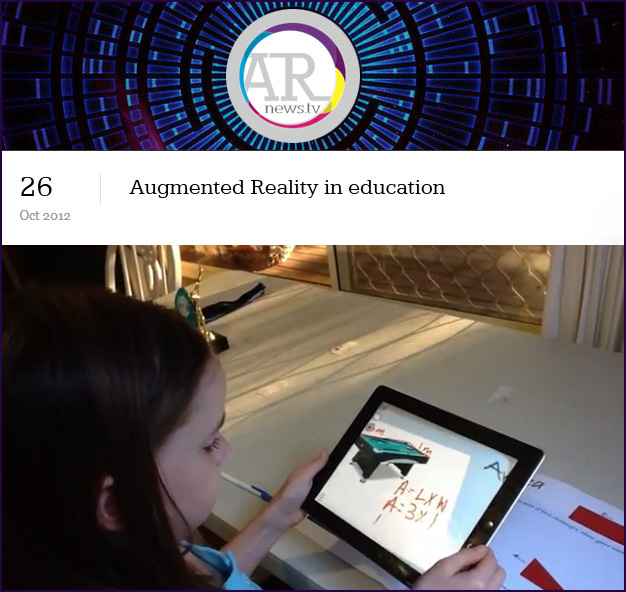 Augmented Reality in Education - October 26 2012