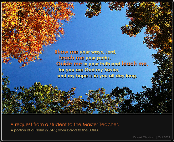 A request from King David to the Master Teacher