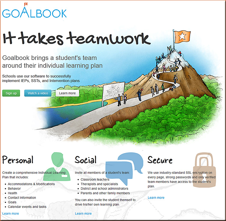 Goalbook app -- great tool for providing excellence for students with special needs