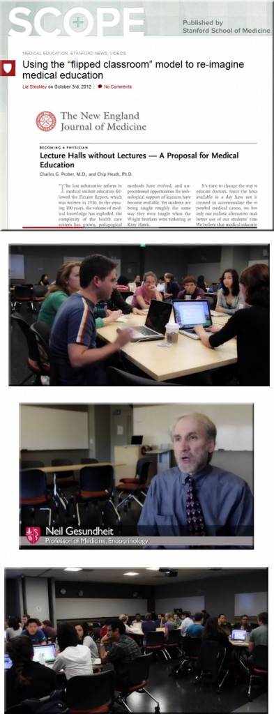 Stanford School of Medicine experiments with the flipped classroom model