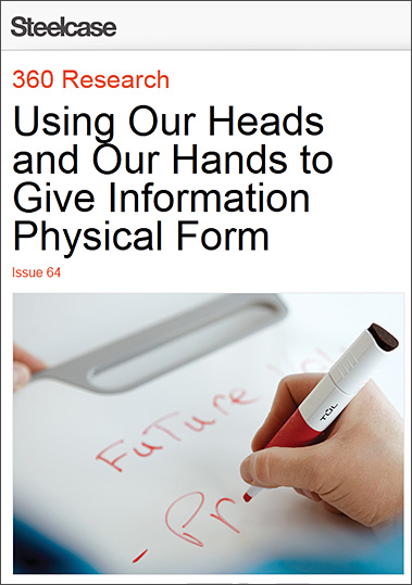 Steelcase: Using our heads and our hands to give information physical form
