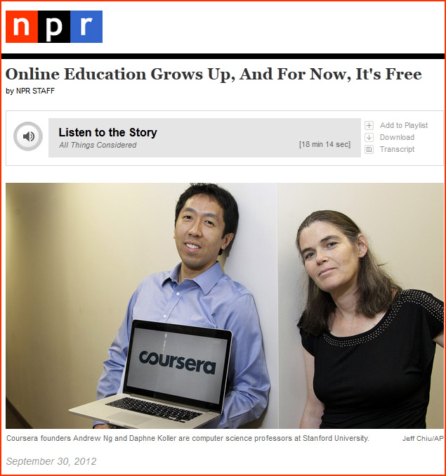 Online Education Grows Up, And For Now, It's Free -- from NPR.org