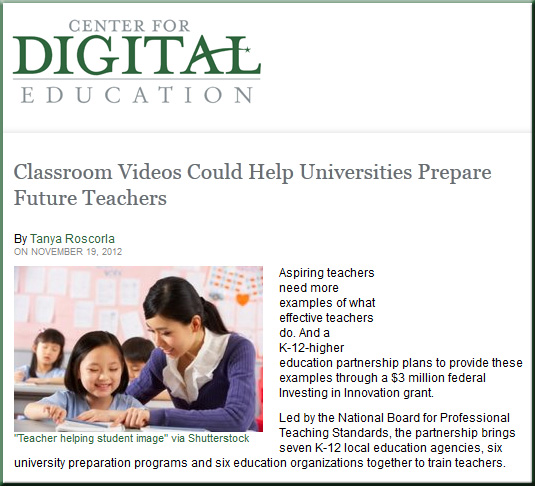 Classroom Videos Could Help Universities Prepare Future Teachers -- by Tanya Roscorla