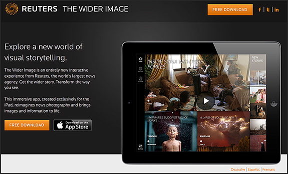 The Wider Image app from Reuters