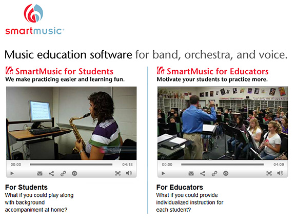 SmartMusic -- music education software