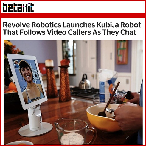 Revolve Robotics Launches Kubi, a Robot That Follows Video Callers As They Chat