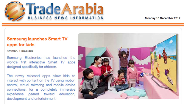 Samsung launches SmartTV apps for kids