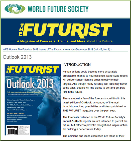 The Futurist - The Outlook for 2013