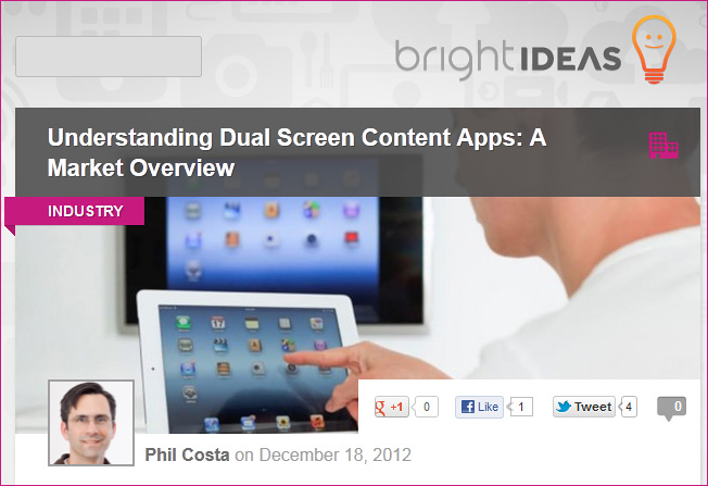 Understanding dual screen content apps: A market overview [Costa]