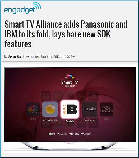 Smart TV Alliance adds Panasonic and IBM to its fold, lays bare new SDK features -- Sean Buckley