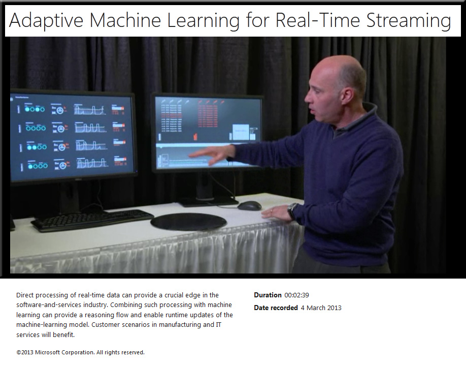 Adaptive machine learning for real-time streaming [Microsoft Research]