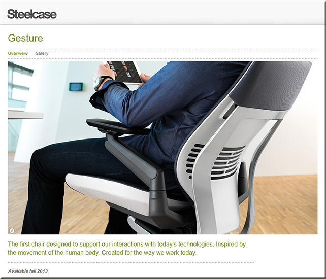 Coming this fall: Steelcase's Gesture Chair