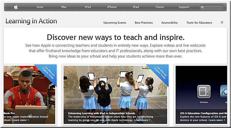 Apple introduces Learning in Action resources