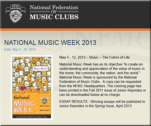 NationalMusicWeek2013