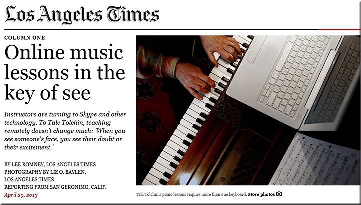 Online music lessons in the key of see