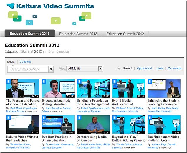 KalturaVideoSummits2013