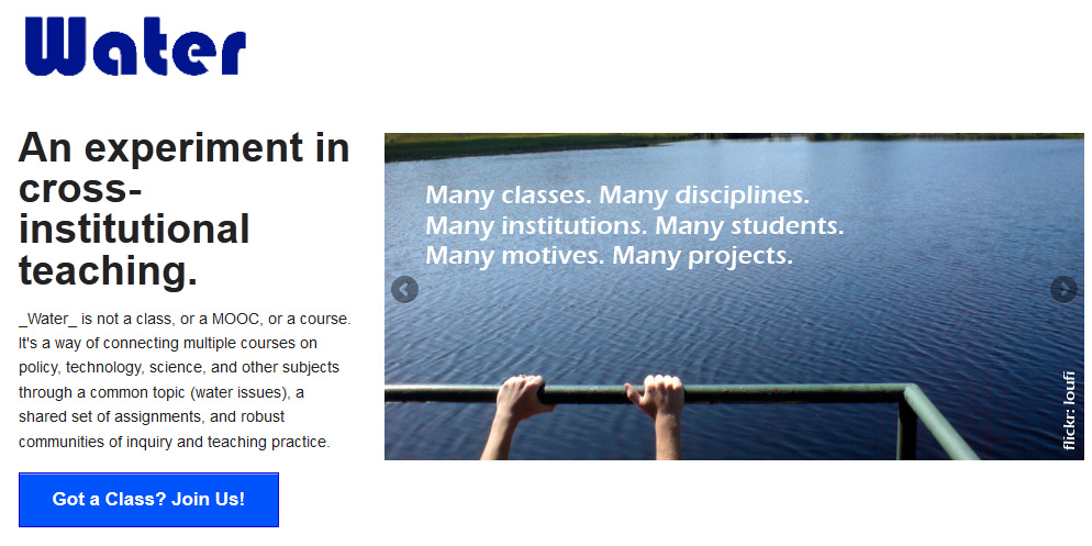 InterestingConcept-Water-CrossInstitutionalTeaching-August2013