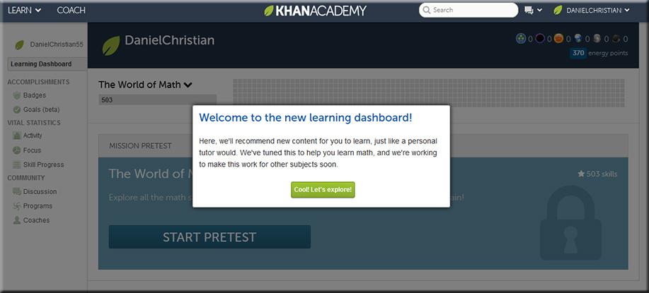 KhanAcademy-NewLearningDashboard-Sept2013