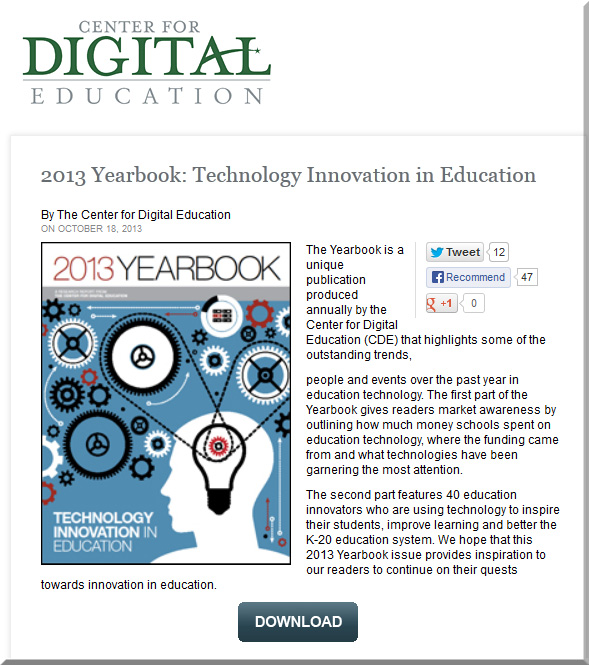 CenterForDigitalEducation-2013Yearbook