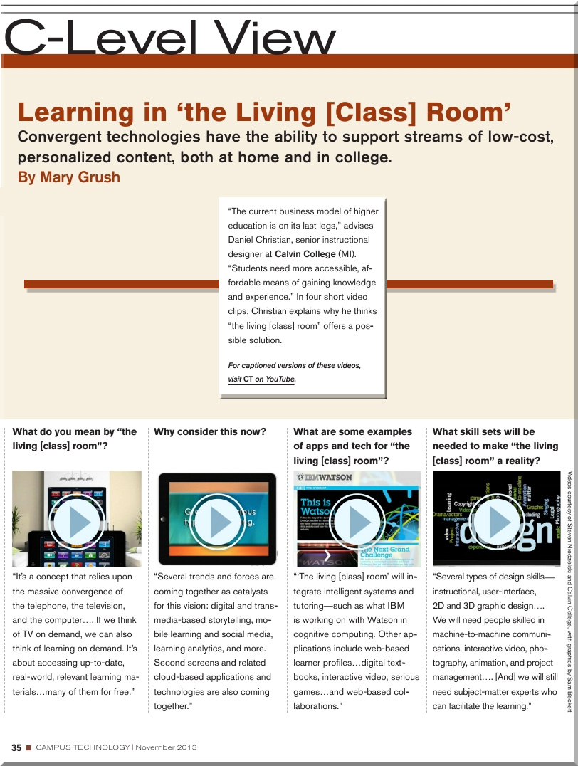 DanielSChristianLearningFromTheLivingClassRoom-CampusTechnologyNovember2013