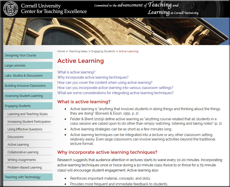 Cornell-ActiveLearning-July2016