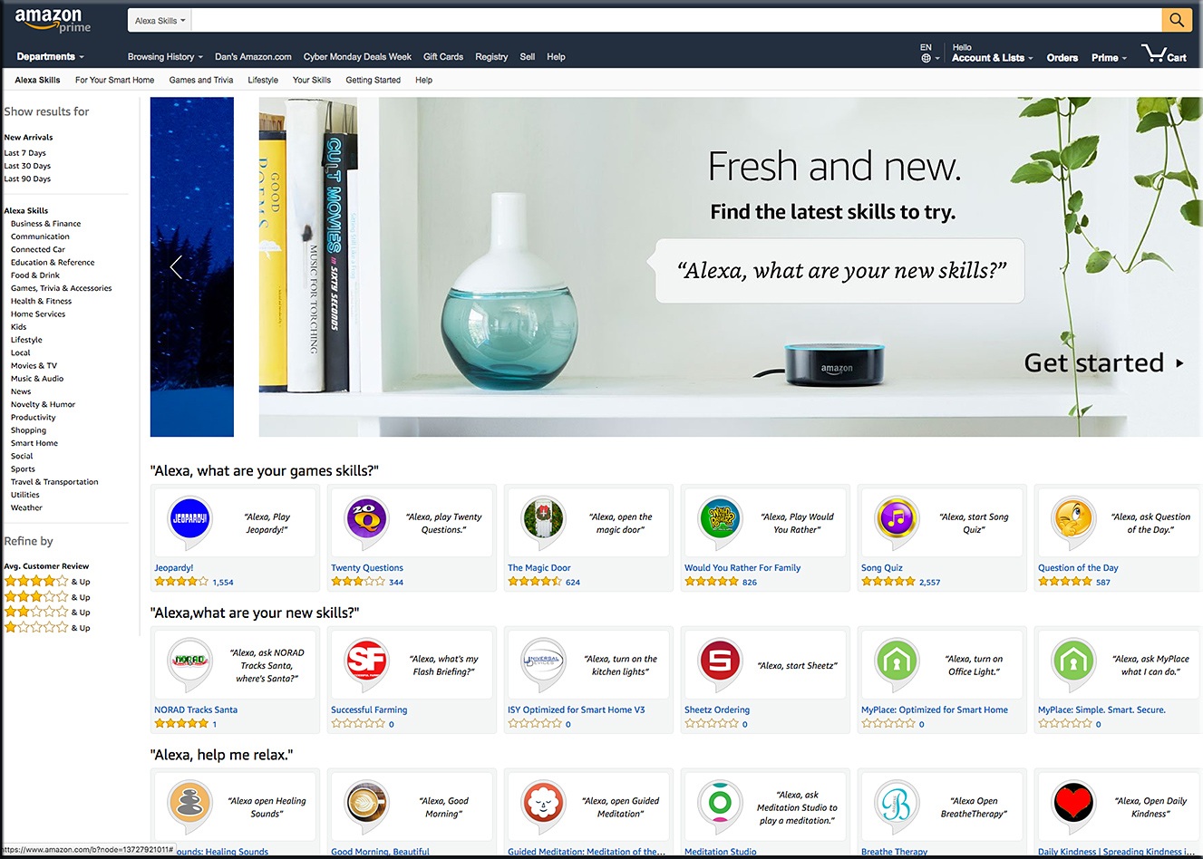 Amazon Alexa Store -- has over 24,000 skills as of November 29, 2017
