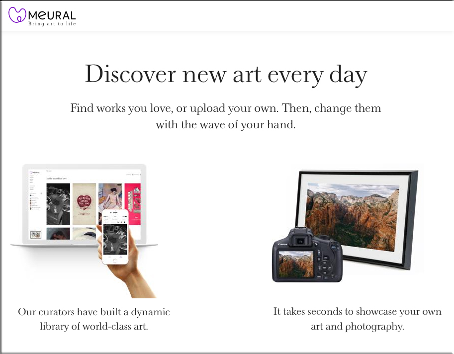 Discover new art every day with Meural